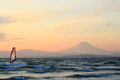Katase Enoshima Beach. (cat