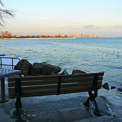 """""""Make your heart a Zone of Peace"""" - Jack Kornfield (Trinimusic2008 - stay blessed) Tags: sky toronto ontario canada nature water thanks bench happy january lakeshore land to lakeontario gratitude 2014 hbm top20flickrskylines trinimusic2008 happybenchmonday judymeikle milesroadendparkette maywebesafe strongandatease"""