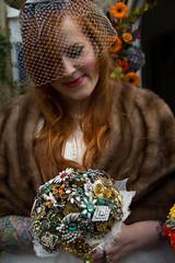 Brooch Bouquet Bride (Wayne Lamport) Tags: wedding groom bride brooch marriage bouquet marry bridebouquet lilyandmyrtle