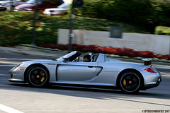Blacked out Porsche Carrera GT (Spyder Dobro) Tags: california streets sports car ride fast porsche gt rims rare supercar exhaust carrera tuned