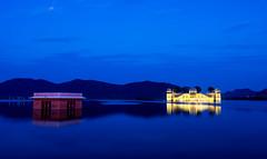 Jal Mahal (Dhaval Motghare) Tags: longexposure travel india water twilight mahal jaipur jal 2470mm d600