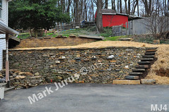 WM Mark Jurus 4, retaining wall, flat caps stones, step stiles, steps, dry laid stone construction, copyright 2014