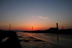 DP1M0981 大牟田川河口残照 (Keishi Etoh rough-and-ready photoglaph) Tags: sigma dp1m foveon omutariver 大牟田川河口 sunset dp1merrill sigmadp1merrill dp1 広角