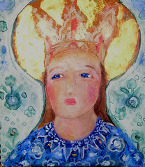 Madonna of the North/ Pohjolan Madonna. Copyright: Anne Permki (Anne Permki) Tags: madonna acrylicpainting