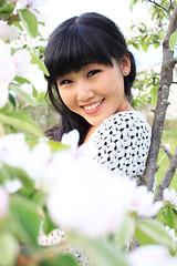 Haru 3 (MitikaFe) Tags: flowers plants tree nature beautiful smile spring model longhair blackhair haru asiangirl chinesegirl almondeyes sofiaaiye