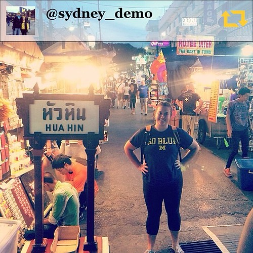 """RG @sydney_demo: """"The Night Market in the streets of Hua Hin, Thailand. Wherever you go, #GoBlue! """" #umich #uminstagram"""
