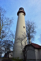 Grosse Point Lighthouse (marensr) Tags: ligthouse tower light architecture lake michigan evanston illinois sky