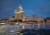 RUS59618(Stalin Skyscraper on Kotelnicheskaya Quay) (rusTsky) Tags: outdoor city cityview night lights moscow winter old architecture river ice icedrift moving flow urban skyline canon