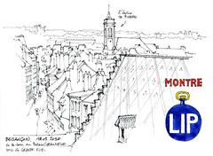 Besançon (gerard michel) Tags: france franchecomté besançon rue sketch croquis