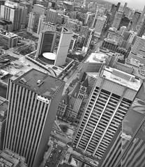 Old & New City Halls (@ThetaState) Tags: toronto ontario canada march 2017 blackandwhite cityhall urban baystreet newcityhall oldcityhall
