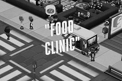 The Clinic Noir Poster (clinicchef) Tags: noir hollywood truck clinic food foodies pizza print crossing mobile hospitality