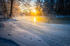 Icy River (Jyrki Salmi) Tags: jyrki salmi kotka finland langinkoski winter river sunset