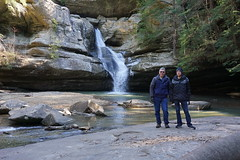 Christopher and Bill - Cedar Falls, Hocking Hills, Ohio (cdrdwd) Tags: hocking hills state park ohio ceder falls