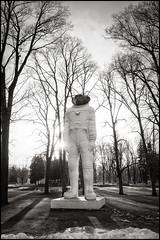 Spacebound Ape (Garry Corbett) Tags: denisprasolov sculpture samsculpture monkeyinaspacesuit spaceboundape cosmonaut russianinspiredart nationalmuseumofartriga cgarrycorbett2017 bluejazzbuddha riga latvia rigaboursemuseumofart nationalmuseumofartlatvia freedommonumentriga daugeva artnouveau architecture art