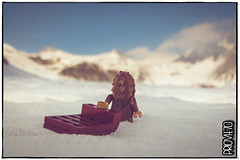 This is going to be quite a ride! (Priovit70) Tags: lego bigfoot sledge themcfoots mountains winter snow