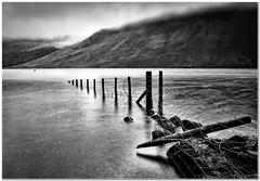 The broken fence (Hugh Stanton) Tags: fence broken lake cloud mountain appicoftheweek