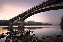 Rhône (alex notag) Tags: rhône fleuve bridge river sunset pont rhônealpes ardèche