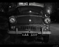 The Night Portrait (Ulvraith) Tags: old car classic abandoned azlk moskvitch 407 moskwicz silesia poland sony a500