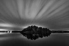 Night island (jarnasen) Tags: d810 nikon nikkor tripod longexposure le samyang14mmf28 bnw mono monochrome blackandwhite svartvit clouds movingclouds sky island water darkness mood nordiclandscape landscape landskap storarängen nature outdoor scandinavia vårdnäs highiso wideangle trees night perspective enlightened gallery geo geotag copyright järnåsen jarnasen sweden sverige östergötland