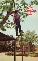 The Hanging Tree, Frontier City USA, Oklahoma City (SwellMap) Tags: vintage advertising death pc 60s dummies fifties postcard kitsch retro nostalgia crime chrome western murder violence amusementpark hanging americana deathvalley 50s tacky roadside dummy themepark sixties frontier midcentury lynching oldwest frontiertown effigies waxmueum