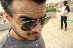 Are you looking at me or her? (Photography by Kunal Khurana) Tags: ray delhi indian shades angry ban hdr rayban bans