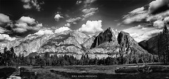 Remembering Ansel Adams (Kris Kros) Tags: california ca blackandwhite bw panorama white black photoshop adams upper waterfalls yosemite kris lower hdr anseladams kkg ansel photomatix kros kriskros hdrunleashed