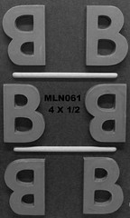 MLN061 (Chocolate Concepts) Tags: b chocolate letters number numbers letter mold