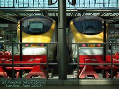 Euro Duo (dhcomet) Tags: 2 two london station train eurostar camden duo pair international stpancras n1 highspeed hispeed networkrail