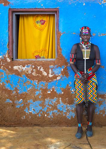 Bana Tribe Woman, Key Afer, Omo Valley, Ethiopia