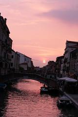 Sunset in Venice SOOC (rosewoodoil) Tags: pink venice sunset sky italy color colour water italia centurian 100views 100 venise venezia italie photographedublin