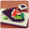 nanoblock California Temaki (inanoblock) Tags: food japan sushi toy japanese construction lego sashimi bricks sake ramen instructions blocks build ikura macha tamago temaki nanoblock ナノブロック nanoblocks