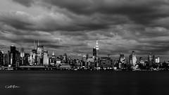 New York City - BW (Mohd Althani) Tags: nyc longexposure sunset sky bw ny newyork beach water clouds canon landscape long exposure unitedstates blakwhite