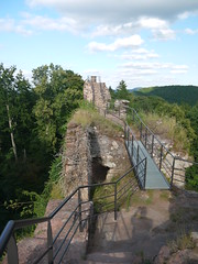 Falkenstein Walkways (Worthing Wanderer) Tags: summer france castle forest border july sunny chateau lorraine falkenstein moselle