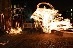Rings Of Fire I (claudiopro) Tags: ireland dublin college fire long exposure trails cobble cobblestone trinity juggling juggle juggler cobbles ire