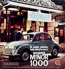 Morris_Minor_Feb_1964_advert (alframseysrevenge) Tags: 60s fifties oliver theatre noel retro advert british 1960s morris minor 1000 bmc coward leyland 1960 adverts britishleyland britishmotorcorporation oldmotoringadverts retroadvert retroadvertsixties