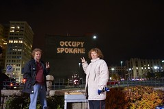 Spokane and 12 other cities Shine a Light on the Secret TPP trade Deal (Backbone Campaign) Tags: action projection nighttime freeway flush activism fasttrack tpp lightprojection backbonecampaign olb corporatecoup overpasslightrigade
