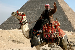 Camel rider in front of Cheops pyramid (Consulente per Viaggiare) Tags: ancient egypt camel pyramids