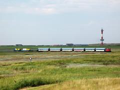 09-08-06 Wangerooge Anleger - Saline 399 107 - 2 u. a. - 04 (tramfan239) Tags: db wangerooge 399 diesellok 1000mm inselbahn schöma schmalspurbahn