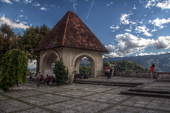 Bled Castle Courtyard (pbr42) Tags: castle architecture courtyard slovenia bled hdr