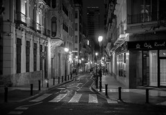 Nightlife II - Explored (faranorclarke) Tags: road street vacation blackandwhite bw holiday night mono blackwhite spain nikon streetlight holidays nightshot streetscene backstreet alicante spanish nikkor lightroom d90 18g vision:outdoor=0789 vision:sky=0502 vision:street=0909