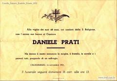 Convite Enterro Daniele Frente 1952