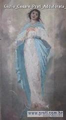Giulio Cesare Prati Addolorata bozzetto olio su tela 39,5x19,5cm 1899 Collezione privata