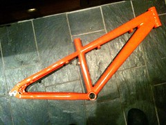 Kona Stuff 2-4... holes welded up and powder coated. Orange natch (Jonathan Bateman) Tags: originalfilter uploaded:by=flickrmobile flickriosapp:filter=original