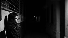 Daria (Jay_2FStudio) Tags: street portrait bw woman girl night smoke 2013