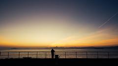 Pier Fishing (FRESHCOLD) Tags: ocean sf sanfrancisco ca sky clouds sunrise canon bay san francisco area bayarea 24mm 6d 24105