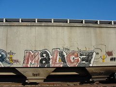 MALICE (Same $hit Different Day) Tags: train graffiti ups freight malice upsk