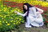 (kuuan) Tags: flowers bw flower girl lady 85mm posing olympus vietnam mf f2 tet saigon zuiko manualfocus hcmc fzuiko f285mm olympusfzuikoautotf285mm