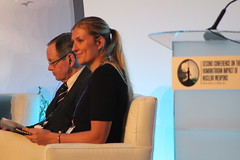 ICAN Executive Director Beatrice Fihn speaks during Humanitarian Conference in Mexico