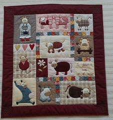 PATCH2443-Country-vache-20-02-2014 (Silvia LGD (Little Green Doll)) Tags: quilt crafts patchwork countryvache