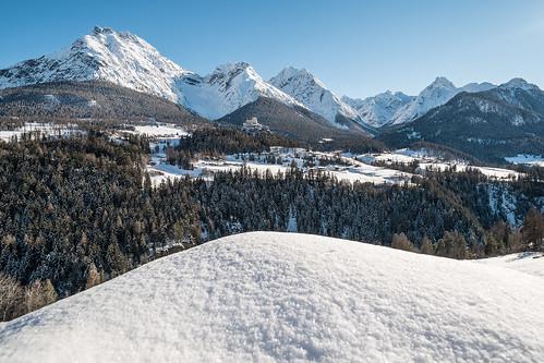 Winterpanorama Unterengadin